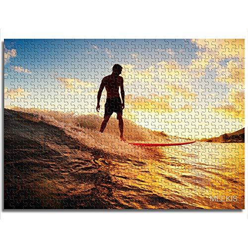 CAFO Puzzle de hombre surf, juguete para adultos y niños, minirompecabezas de papel de 1000 unidades