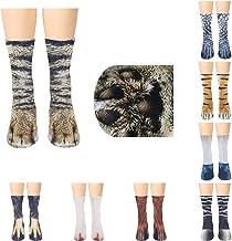 MoonyLI Unisex Tierf/ü/ß Socken Tierpfote 3D Simulation Print Crew Socken lustige Tiermuster Kindersocken