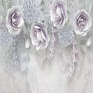 Chujiu Custom Photo Mural Wallpaper 3D Stereo Purple Flowers Wall Painting Living Room Sofa Bedroom Tv Background Wall 140cm(W) x 70cm(H)