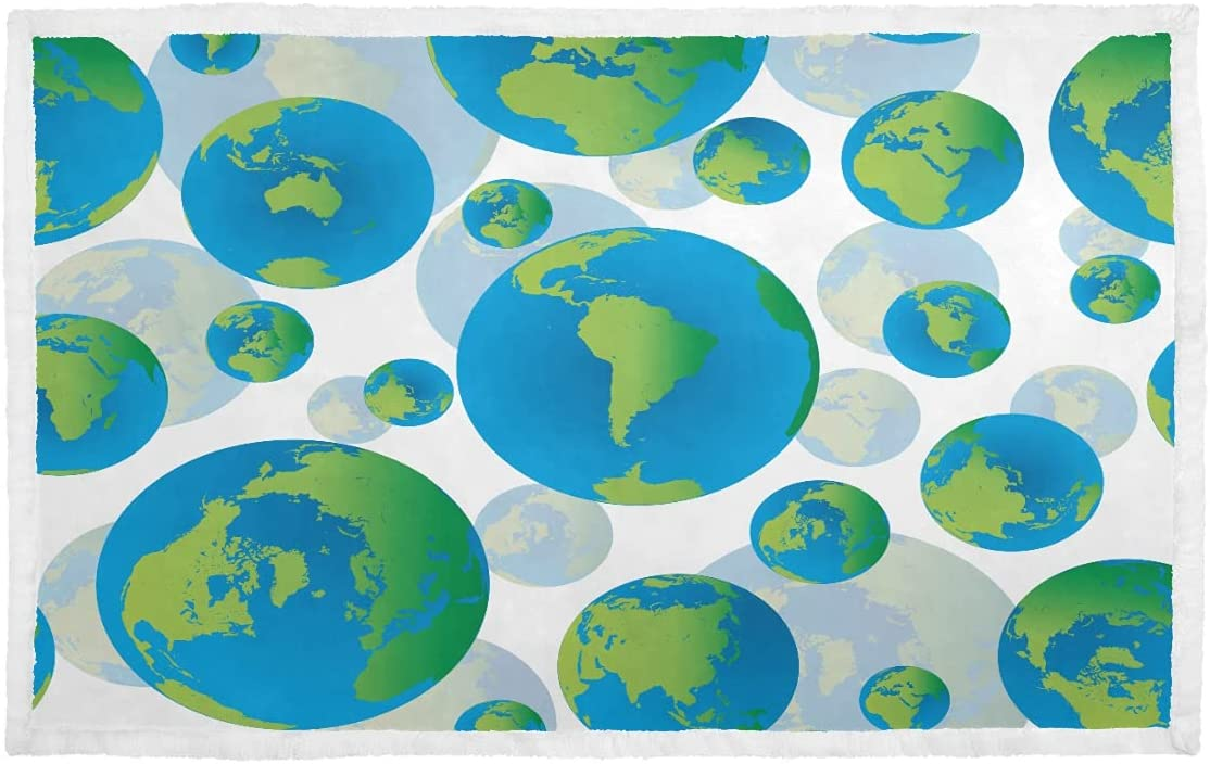 Puppy Blankets for 25% OFF Small Dogs Seamless Abstract Globes No ...