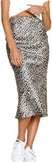 Howely Women Leopard Print Sexy Casual Trendy Skinny Bodycon Pencil Skirt