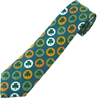 Jacob Alexander Boys' Prep St. Patrick's Day Shamrock Circles Neck Tie