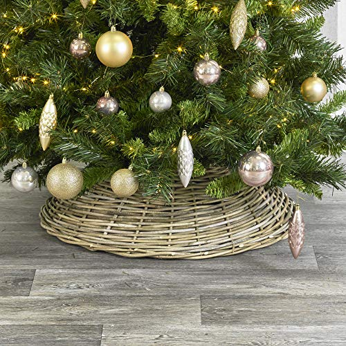 URBNLIVING Christmas Tree Medium and Large Dome Style Wicker Skirts (Small)