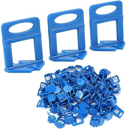 100 piezas de pl/ástico separadores de baldosas de baldosas de pared espaciadores de pl/ástico para azulejos de sistema de nivelaci/ón de azulejos herramientas niveladores de azulejos para pared y suelo