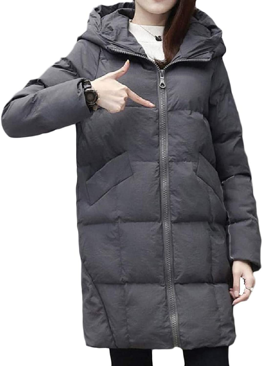 Cheelot Womens Warm Quilted Puffer Topcoat Plus Size Wadded Jacket