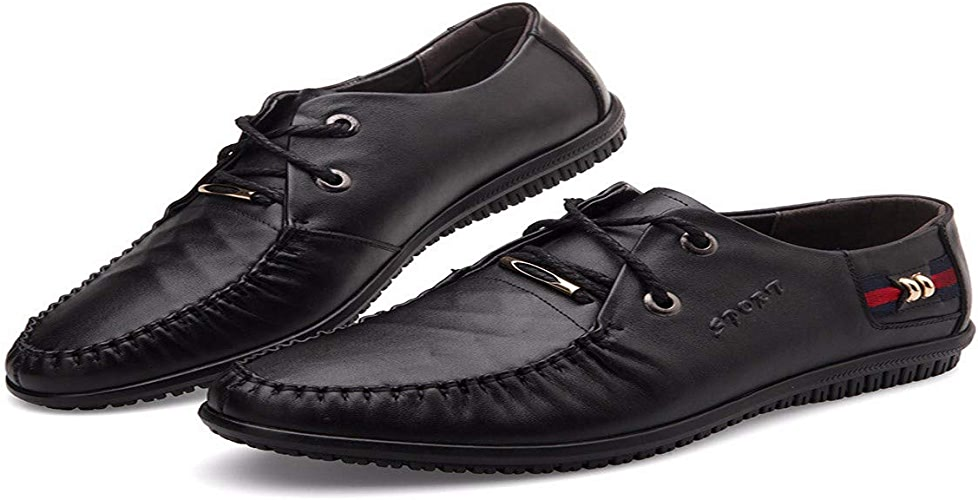 KMJBS-Le Cuir des Chaussures d'hommes des Chaussures en Cuir Cravate marron Quarante-Trois