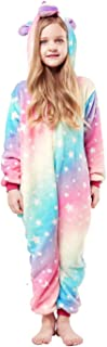 Onesies Unicorn Pajamas Unisex Cartoon Costume One Piece Cosplay Sleepwear Gift for Girl or Boys