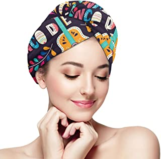 Shower Cap for Women and men,Vector Illustration With Design For Mexican Holiday 5 May Cinco De Mayo Dry hair cap one size