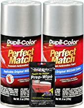 Dupli-Color Alabaster Silver (M) Exact-Match Automotive Paint - 8 oz, Bundles Prep Wipe (3 Items)