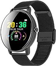 UIEMMY slim horloge Smart Horloge Vrouwen Hartslag Fitness Tracker Horloge Mannen Waterdichte Bloeddrukmeter Smartwatch Ro...