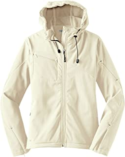 Port Authority Ladies Textured Hooded Soft Shell Jacket