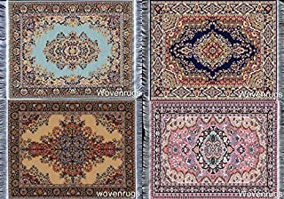 Inusitus Set of 4 Miniatures Dollhouse Carpets - Dolls House Woven Rugs - 10x7 Dollhouse Furniture Accessories - Turkish and Oriental Designs