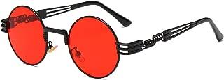 John Lennon Round Sunglasses Steampunk Metal Frame