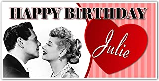 I Love Lucy Birthday Banner Custom Party Backdrop Decoration