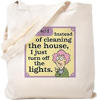 CafePress – Aunty Acid: Cleaning House – Naturleinen-Einkaufstasche Small khaki