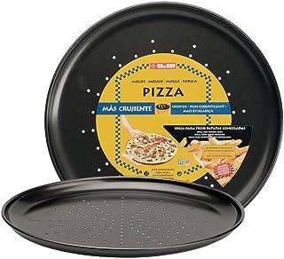 Ibili 821928 Moule à Pizza 28 cm antiadhésif Moka
