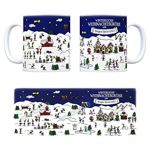 Bergen (Kreis Celle) Weihnachten Kaffeebecher mit winterlichen Weihnachtsgrüßen – Tasse, Weihnachtsmarkt, Weihnachten, Rentier, Geschenkidee, Geschenk - 4
