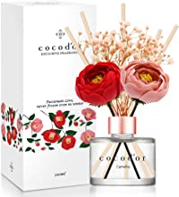 Cocod'or Camellia Preserved Flower Reed Diffuser/Camellia/6.7oz(200ml)/Reed Diffuser Set, Oil Diffuser & Reed Diffuser Sti...