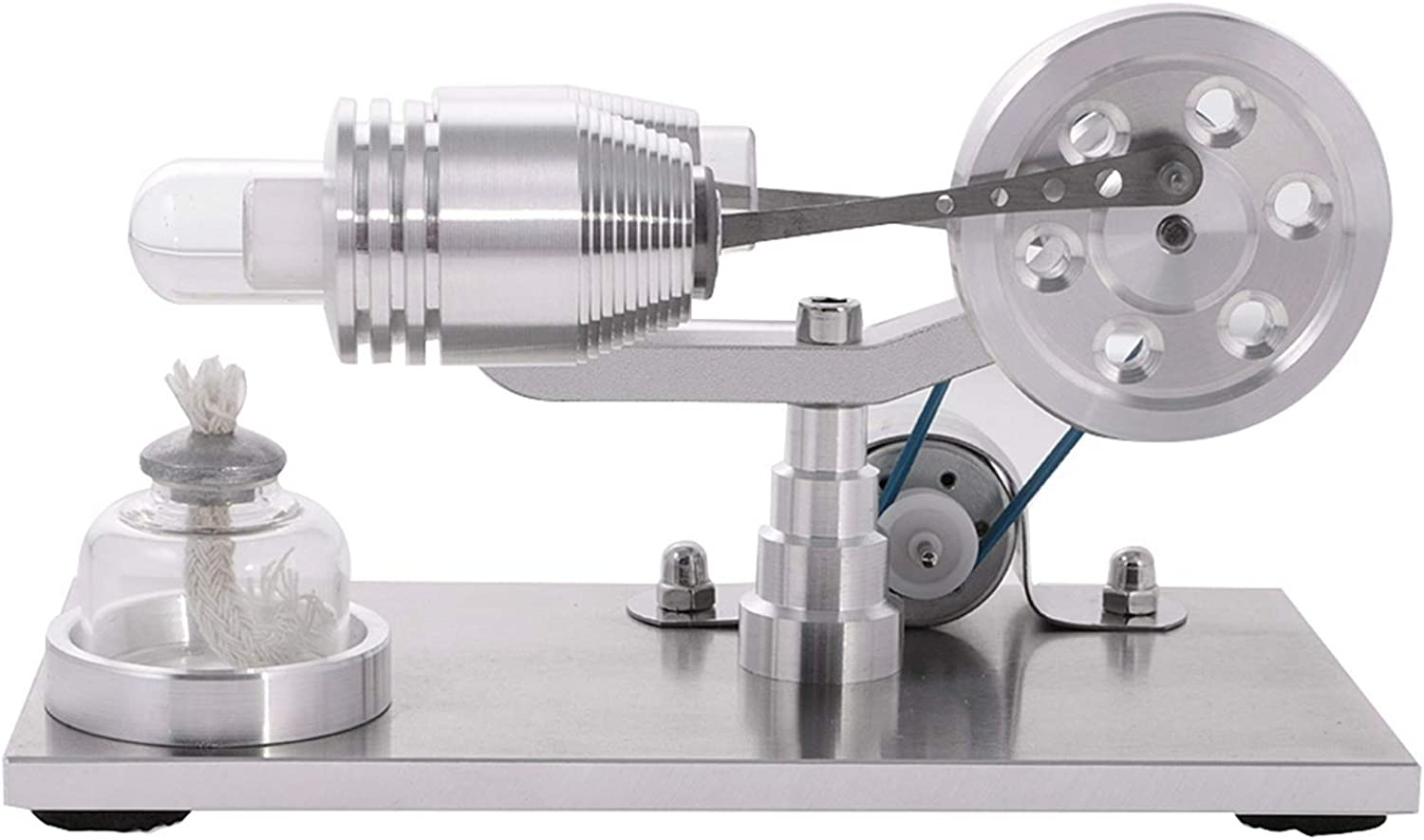 SODIAL Hot Air Stirling Engine Model Physical Motor Power Generator Educational Science Experimental Toys