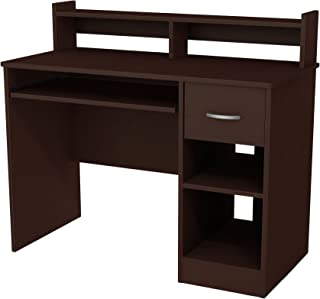 South Shore Axess Desk with Keyboard Tray, Chocolate