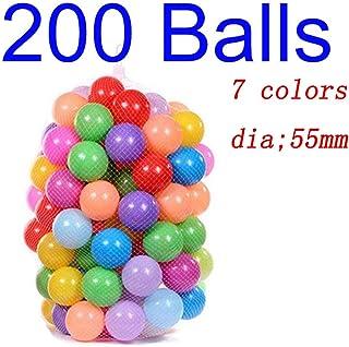 Deyan 100 - 200pcs bebe Colorido plastico Suave Piscina de Agua Ocean Wave Ball para ninos Bolas de Juguete Divertido