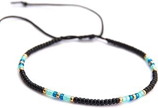 خلخال زنانه ، خلخال نازک مهره ای منحصر به فرد ، جواهرات پا ساحل ساحل رنگی Boho Hippie ، دست ساز