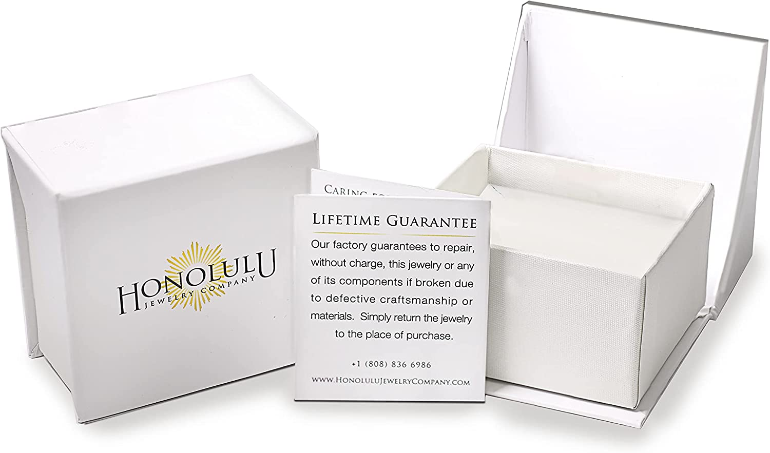 Honolulu Jewelry Company 14K Solid White Gold Box Chain Necklace