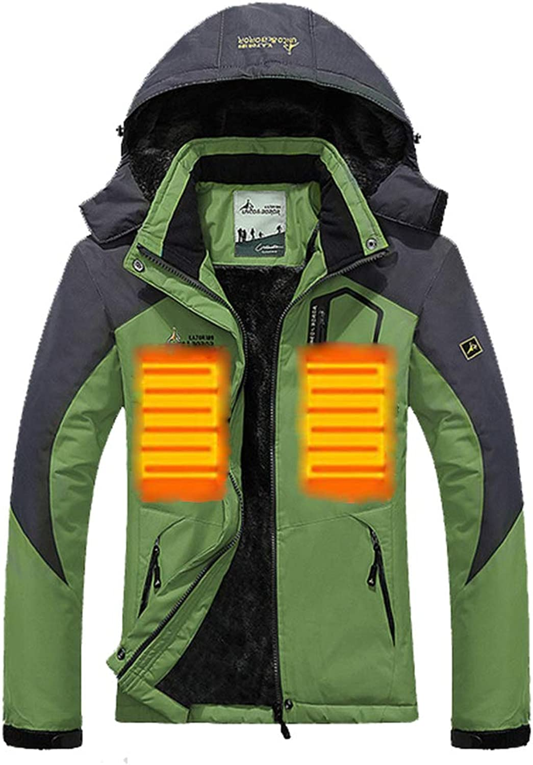 Women's Ski Jacket Winter Jacket Waterproof 3 in 1 Mountain Coat Windproof,Green,L