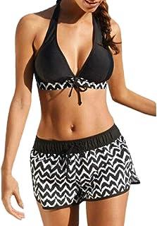 comprar comparacion Bikini Mujer 2019 Push Up Logobeing, Conjuntos de Mujer Tankini Bikini de Dos Piezas con Pantalones Cortos deurf de Niño T...