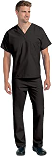 Landau Unisex V-Neck Reversible 1 Pocket Scrub Top 7502 & Drawstring Pants 7602 Medical Uniforms Scrub Set