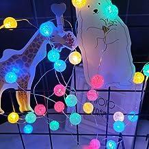 Uonlytech LED crack bal string licht decoratieve kristallen bal lichtketting string lichten LED string licht voor thuis Ke...