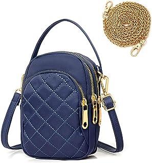 Frauen Mini Handy Umhängetasche Schultertasche Damen Klein Geldbörse Crossbody Handtasche Mode Citytasche mit Kopfhörerans...