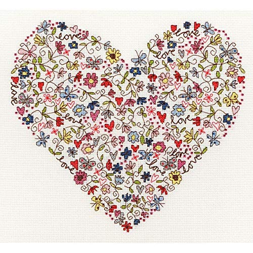 Love Heart - Cross Stitch Kit by Bothy Threads