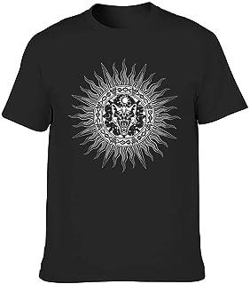 Camiseta gráfica tribal vikinga Fenrir lobo sol luna celta nudo estampado étnico camisas