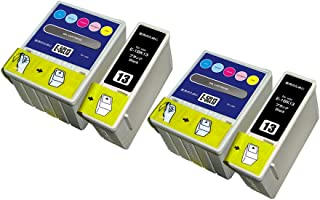 EPSON用 エプソン用 IC5CL13 IC1BK13 (4パック 2ブラック 2カラー) 互換インクカートリッジ 対応機種:PM-730C PM-740C PM-740DU PM-830C PM-840C PM-850PT PM-860PT