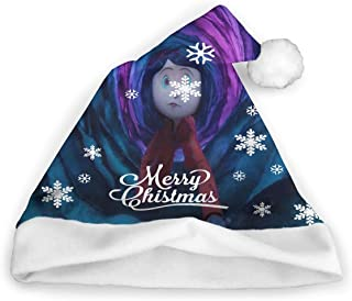 Secret Coralines Christmas Hat Santa Headwear Adult Kids Funny Xmas Gift White