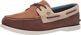 Sperry Top-Sider pour des Hommes A/O 2- Chaussures de Bateau lavables en Peluche avec Oeil, Marron