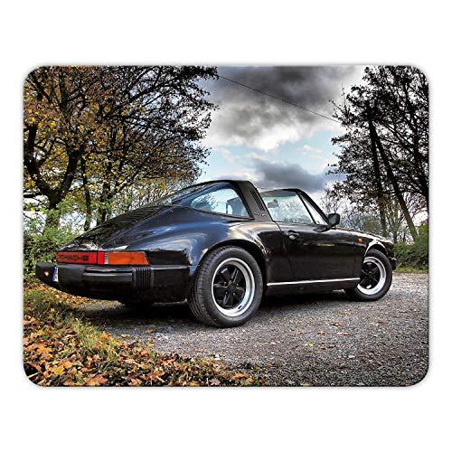 Addies Mousepad 'Porsche' schönes Mauspad Motiv in feiner Cellophan Geschenk-Verpackung mit Kautschuk Untermaterial, 24x19cm - MP10