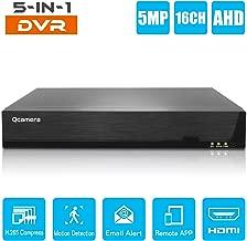 Q-camera 16CH 5MP Full HD Hybrid AHD/TVI/CVI/Analog/Onvif IP DVR H.265 CCTV Video Recorder Motion Detection P2P Remote Phone Monitoring for Home Security Surveillance System Camera (NO HDD)
