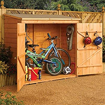 Bosmere Rowlinson Wallstore Wooden Outdoor Lockable Storage Unit