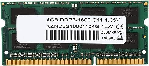 Bewinner RAM SODIMM DDR3, 4GB DDR3 1600Mhz Laptop Memory Motherboard Dedicated Memory RAM,Good Compatibility,Gold Finger Gold-Plated Design RAM