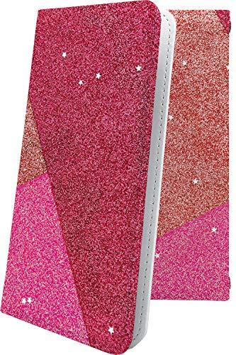 スマートフォンケース・jetfon P6・互換 スマートフォンケース・手帳型 ハート love kiss キス 唇 グリッター ジェットフォン 女の子 女子 女性 レディース jetfonp6 かわいい 可愛い kawaii lively