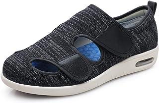 CCSSWW Fermeture Velcro Chaussures Pantoufles,Les Pantoufles diabétiques Peuvent être scellées-Cendre Sombre_49,Hommes Cha...