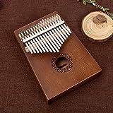 Piano de bolsillo para piano portátil con 17 llaves, piano africano con martillo protector de pulgar para principiantes, niños, adultos, juguete musical para niños