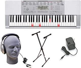 $227 » Casio LK-280 Lighted Key Premium Keyboard Pack with Headphones, Power Supply, and Stand (Renewed)