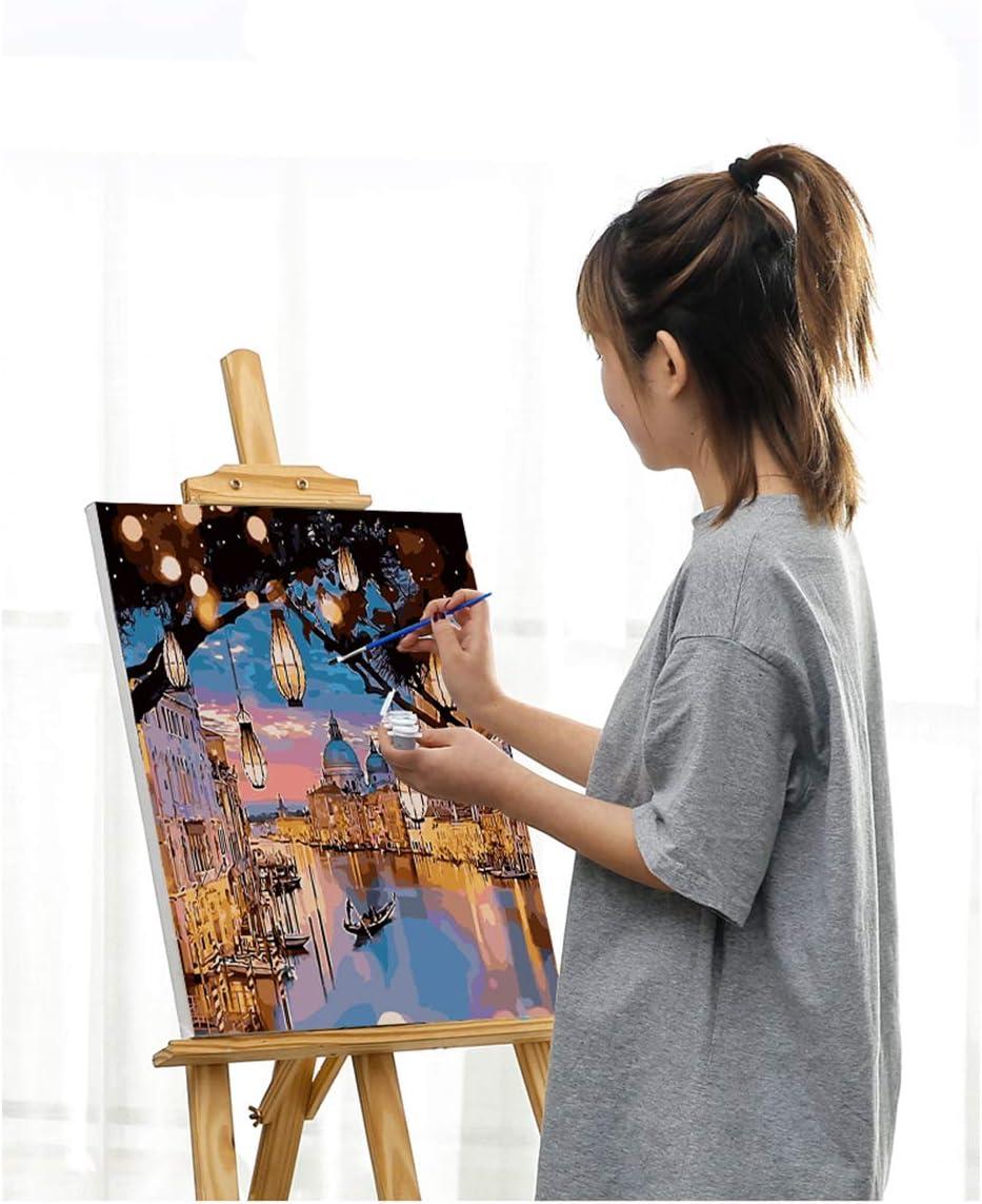 CLYCTIP Peinture par num/éros Kit de Peinture Acrylique Bricolage pour Enfants et Adultes D/ébutant D/écoration de la Maison Toiles 16 x 20 Peinture Blue Bleu