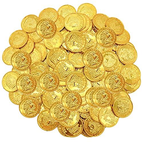 STOBOK 200 Piezas de Plástico Piratas Monedas de Oro Monedas de Tesoro...