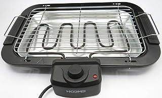 BBQ-Barbacoa eléctrica de mesa, Grill, 2000W, Rejilla de acero inoxidable 38x22cm y bandeja de agua extraíbles y desmontables que evita los humos y fácil de limpiar.