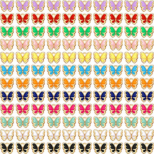 Enamel Butterfly Charms Colorful...