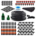 "Flantor Garden Irrigation System, 1/4"" Blank Distribution Tubing Watering Drip Kit/DIY Saving Water Automatic Irrigation Equipment Set for Garden Greenhouse, Flower Bed,Patio,Lawn"